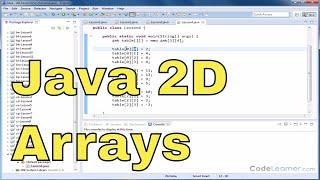 Java Tutorial - 04 - Two Dimensional Arrays