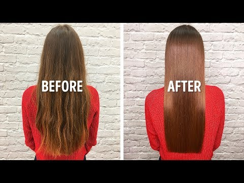 I Straightened My Hair Quickly With an Easy Remedy