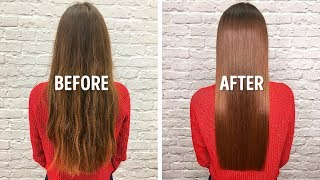 I Straightened My Hair With 1 Easy Homemade Remedy