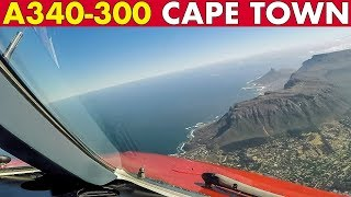 Superb Pilotviews Airbus A340 out of Cape Town