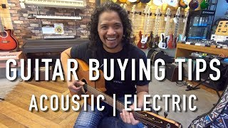 My Buying Tips for Acoustic and Electric Guitars