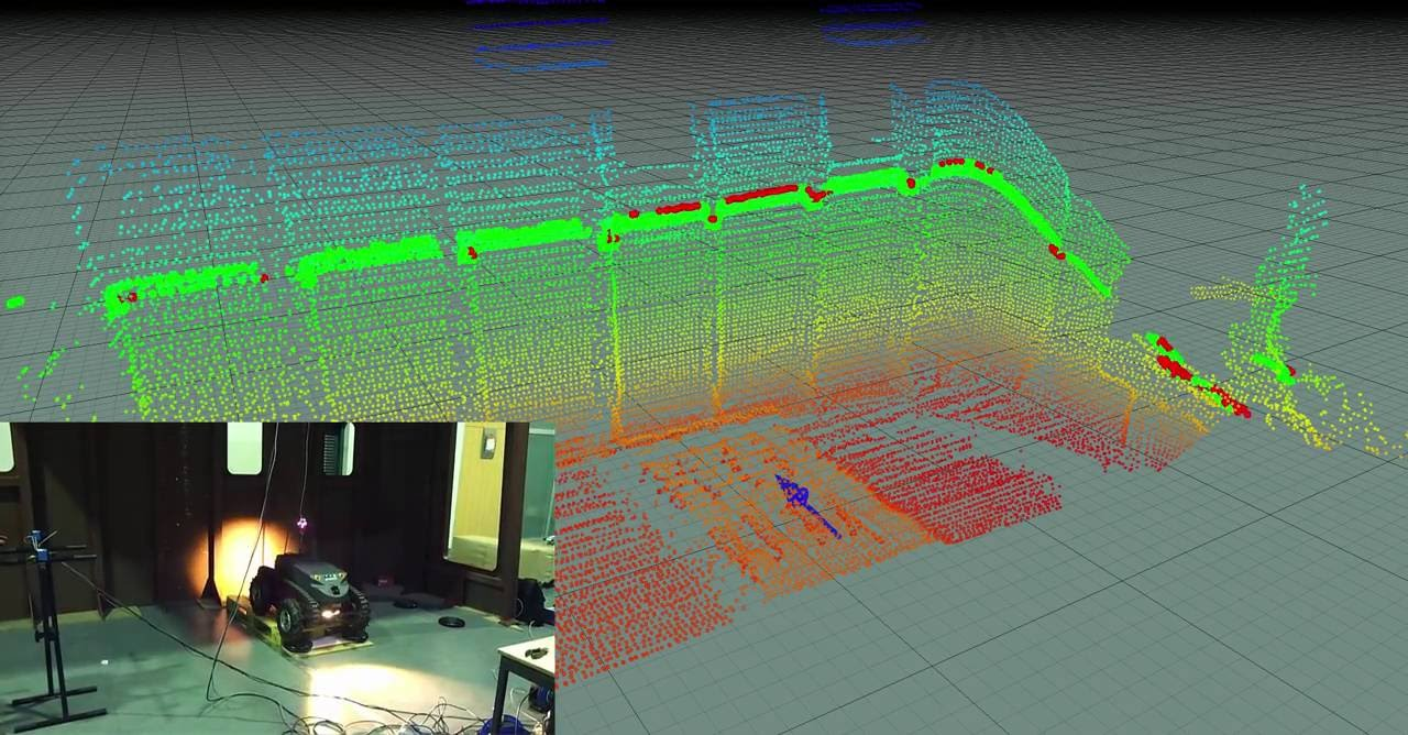 Mapping with the Guardian robot in a ship interior using the 3 DoF localization system