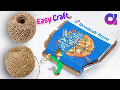 DIY Best easy Craft Idea/Best reuse of Waste jute Craft Idea | Handmade craft | Home Decor 2018