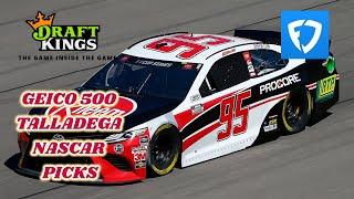 DRAFTKINGS & FANDUEL GEICO 500 NASCAR TALLEDAGA PICKS + BREAKDOWN