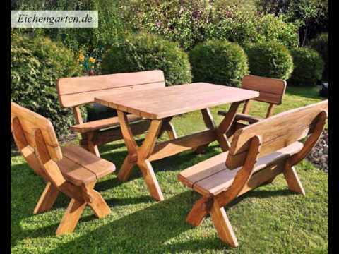 Massivholz Gartenmöbel Set