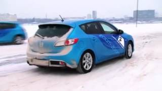 Управление передним приводом зимой - от инструктора