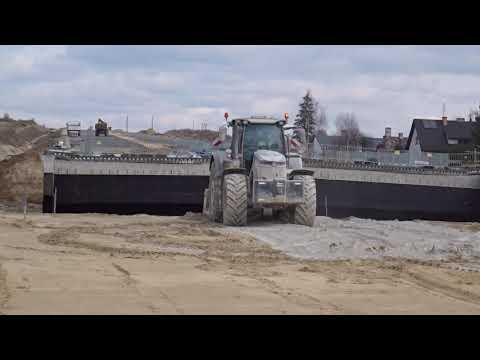Stabilizacja nasypu drogowego spoiwem hydraulicznym w km 36+500 S19