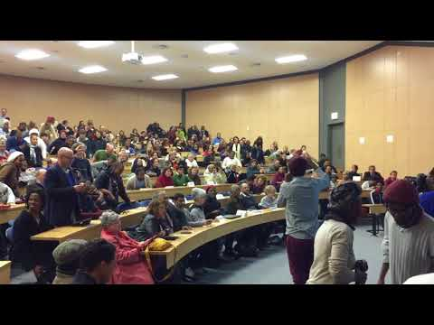 UCT students welcome Professor Mamdani with decolonized Anthem