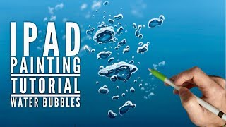 HOW TO DRAW BUBBLES UNDERWATER Apple Pencil drawing tutorial iPad pro