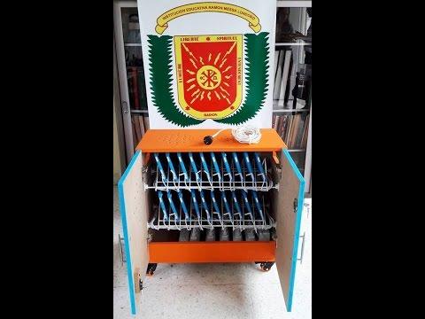 Como construir un Armario o estación de carga para 20 tabletas (Charging cart for 20 tablets)