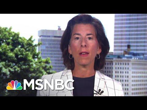 RI Governor Announces Back To Work Initiative | Stephanie Ruhle | MSNBC