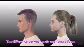 Male Face And Female Face