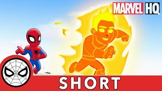 Spidey & Human Torch Collab! | Marvel Super Hero Adventures - It's Too Darn Hot