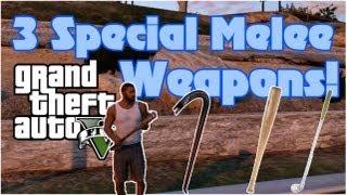 GTA 5: Special Melee Weapons Locations - Baseball Bat, Crowbar & Golf Club