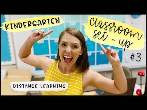 Kindergarten Classroom Set-Up #3 // Pre-Planning Week // Distance Learning Teacher Vlog