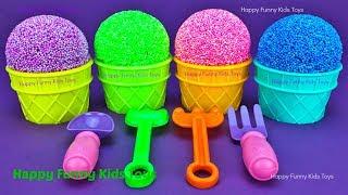 Play Foam Ice Cream Cups Surprise Eggs Trolls Zuru 5 Surprise Toys