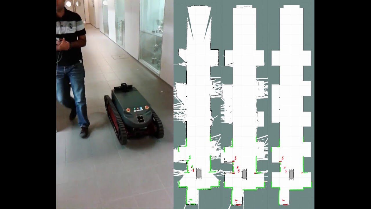 Mapping with the Guardian robot in the lab using the 3 DoF localization system
