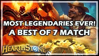 MOST LEGENDARIES EVER! A BEST OF 7 MATCH - Boomsday / Constructed / Hearthstone