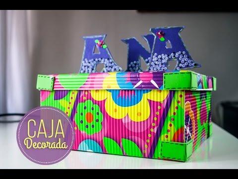 CAJAS DE CARTON CORRUGADO DECORADAS/Corrugated cardboard DECORATED