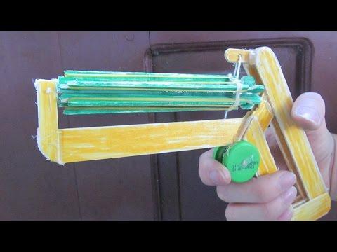 Come fare un super pistola elastico con bastoni ghiaccioli - giocattolo creativo