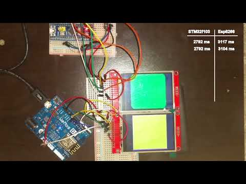 ESP8266 Vs STM32 (TFT Library Performance Test) - смотреть онлайн на