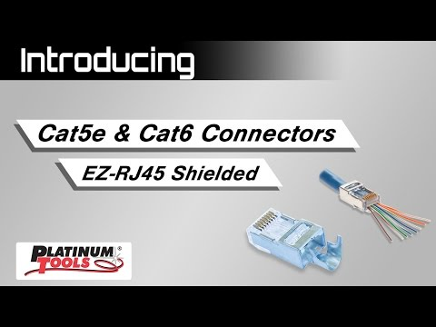 Platinum Tools Shielded EZ-RJ45 Connectors