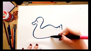 Como dibujar un Pato - dibujos para niños