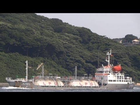 [船] KASHIMA MARU NO.7 第七鹿島丸 LPG Tanker LPGタンカー Kanmon Strait 関門海峡 2013-JUL