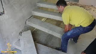 Консольная лестница.Демонтаж.