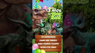 Invitación Temática «Dinosaurios»