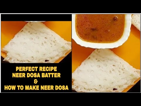 NEER DOSA : HOW TO PREPARE BATTER AND DOSA - AALEEN KHAN RECIPES