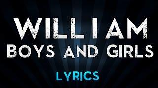 Will.i.am feat Pia Mia - Boys And Girls (Lyrics)