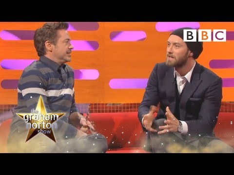 Jude Law a Robert Downey Jr. u Grahama Nortona