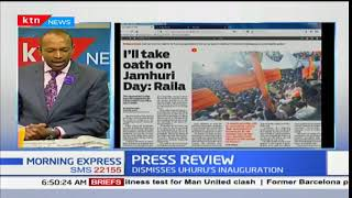 Raila teargassed as he vows to be sworn on 12th December