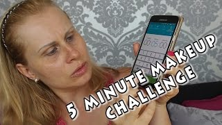 5 minute makeup challenge neboli makeup stres
