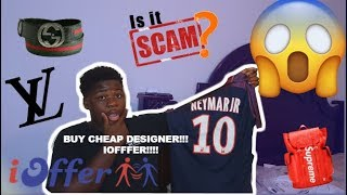 IOFFER REVIEW | IS IT A SCAM? | UNBOXING NEYMAR JERSEY | IOFFER GIVE AWAY |  GUCCI, LOUIS VUITTON
