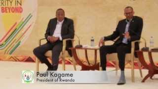 preview picture of video 'Presidents Kagame and Kenyatta at the East African Business Summit - Kigali 16 October 2014'