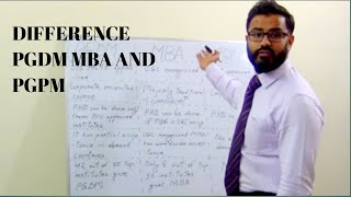 Difference PGDM, MBA AND PGPM