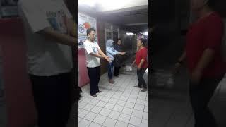 Pemanasan sebelum latihan silat ghoib (By Padepokan Datuk Maharaja  Nusantara, JKT)