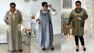 Бохо стиль для полных женщин 50 лет. Модная одежда на каждый день.