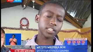 Watoto wa Kitengela waombea nchi itimize amani katika uchaguzi mkuu unaowadia