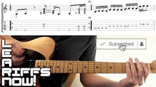 Suck My Kiss RHCP Intro Riff Lesson With Tab