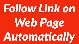 Follow specific link on web page automatically with vba
