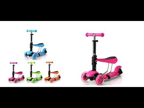 Monopatín Scooter 3 En 1 Sillín Patineta
