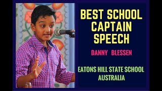 Best school captain speech