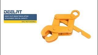 Heavy Duty Beam Tongs Lifting Attachment 2000 Lb. Capacity     SKU #D1045962