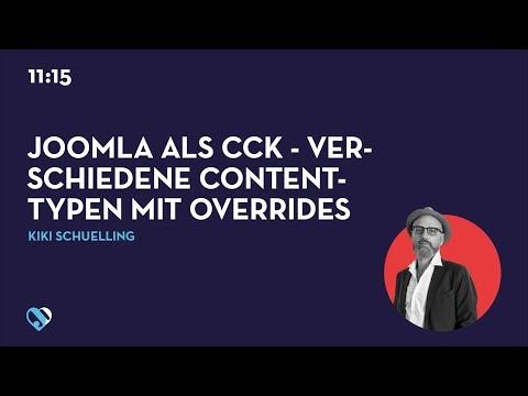 JD19DE - Joomla als CCK - Verschiedene Contenttypen mit Overrides und Custom Fields realisieren