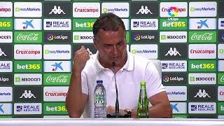 Rueda de prensa Real Betis vs C.A. Osasuna