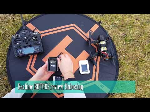 Eachine ROTG02 unboxing and testing wih Walkera