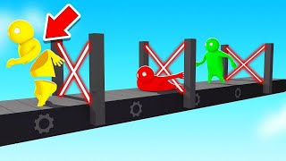 Beat The DEADLY LASER Parkour To WIN! (Gang Beasts)